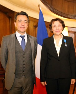 On the photo: the ambassador of the French Republic in Bulgaria: M. Xavier Lapeyre de Cabanes, and Dr. Elena Kabakchieva, President of HESED